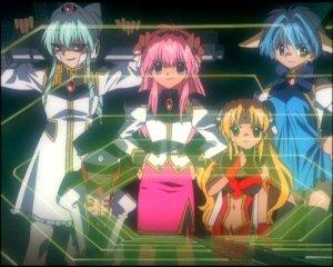 Galaxy Angel - Evil angels.  Don't tell me Evil Mint isn't hawt...