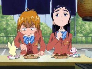 Pretty Cure - Nagisa & Honoka wonder who the impostors are...